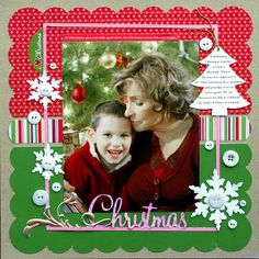 Christmas LO--simple in design but very nice from Ideas for Scrapbookers: Happy Saturday! Two New Templates!