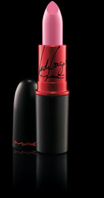 M.A.C - Viva Glam Lipstick. Every cent from the sale of these go towards helping people with AIDS. Available in Lady Gaga, Cindy Lauper, and Nicki Minaj