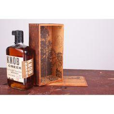 Whiskey Box Wine Carrier | Screenprinted Reclaimed Wood | Dolan Geiman | Etsy