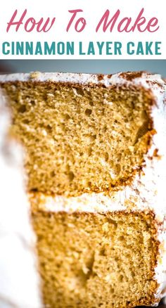 Jazz up a box cake mix with cinnamon and buttery sweet cinnamon frosting. This Cinnamon Layer Cake is an easy dessert recipe that anyone can make! #cake #cinnamon #boxmix #buttercream #cinnamonbutter