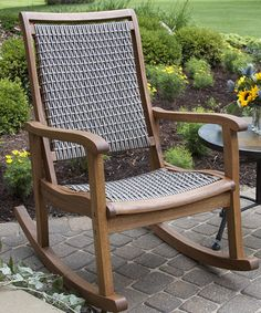 Look at this #zulilyfind! Gray Wicker Rocking Chair #zulilyfinds