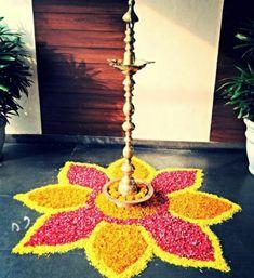 Rangoli Designs Flower, Rangoli Border Designs, Colorful Rangoli Designs, Rangoli Designs Diwali, Diwali Rangoli, Flower Rangoli, Flower Designs, Diwali Decorations At Home, Festival Decorations