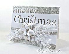 Silver and White Merry Christmas - KittieKraft