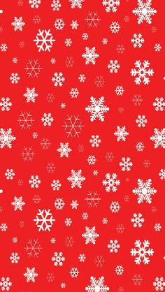 Tap image for more Christmas Wallpapers! Red Snowflakes-01 - mobile9