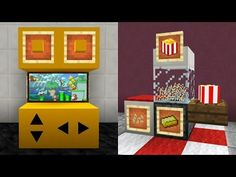 6 secret things you can make in minecraft! Minecraft Shops, Minecraft Mansion, Cute Minecraft Houses, Minecraft City, Minecraft Construction, Amazing Minecraft, Minecraft Blueprints, Minecraft Buildings, Minecraft Crafting Recipes