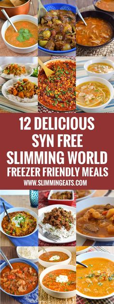12 Delicious Syn Free Slimming World Freezer Friendly Meals You are just going to love these Syn Free Slimming World Freezer Friendly Meals - batch cook some of these and freeze for a busy day. Slimming World Dinners, Slimming World Recipes Syn Free, Slimming World Diet, Slimming Eats, Batch Cooking Freezer, Bulk Cooking, Cooking Recipes, Quark Recipes, Syn Free Food