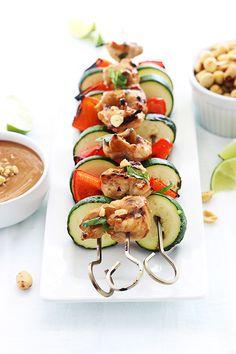 Thai Peanut Chicken Kabobs