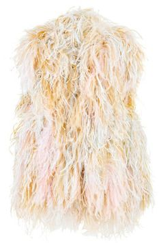ShopStyle: Sonia Rykiel Feather covered vest