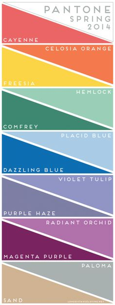 Spring 2014 Colors Make Great Needlepoint - Nuts about Needlepoint