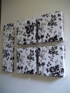 Dollar Tree  Contact Paper and Used Boxes Wall Art