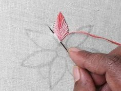 Hand embroidery Beautiful Easy flower design - YouTube