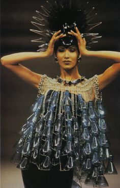 Plastic bottle dress  Paco Rabanne, 1992