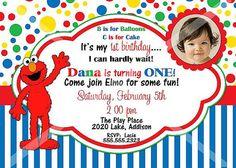 Elmo Sesame Street Birthday Party Invitation by photodesignz, $8.00