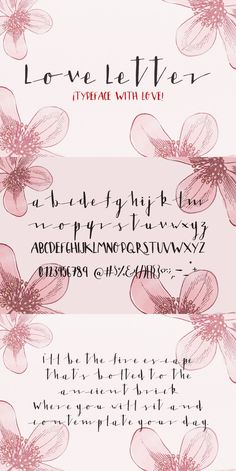 Love Letter my latest typeface A lot of fun making this one. Maybe its not perfect but you can play with it and its amazing trust me give it a chance. Calligraphy Fonts Alphabet, Handwriting Alphabet, Hand Lettering Alphabet, Typography Fonts, Script Alphabet, Script Fonts, Alphabet Art, Romantic Fonts, Creative Lettering
