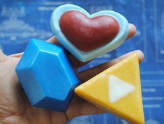 Parody Rupee, Heart Container, Triforce Soap- zelda link, xmas soap, funny gift