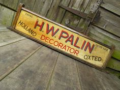 A great site to find real Vintage Advertising Signs now for sale, Vintage Advertising Signs listed on the UK's leading antiques directory. Vintage Advertising Signs, Vintage Advertisements, Industrial Signs, Cnc Projects, Really Cool Stuff, Antiques, Collection, Decor, Antiquities