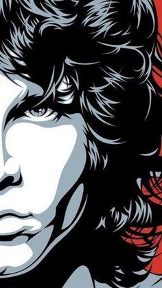 The Doors Jim Morrison poster Rock Posters, Band Posters, Rock And Roll, Arte Pink Floyd, Digital Foto, The Doors Jim Morrison, Posca Art, Vector Portrait, Arte Pop