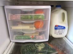 Use clear drawers to organize snacks.