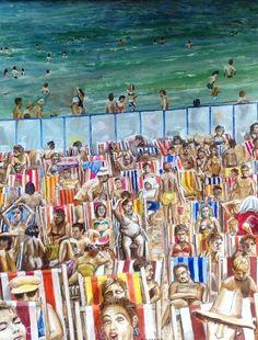 Произведения Искусства >> Francis Ketele >> Пляж Бланкенберг