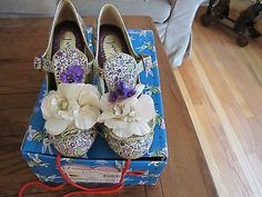 "Irregular Choice ""Cant Touch This"" Floral Heel Size 8 - BUY NOW ONLY 55.0"