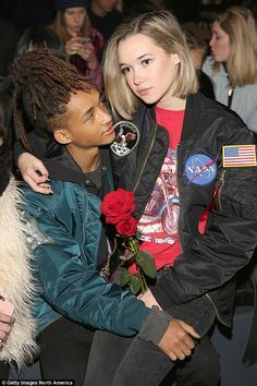 Jaden Smith's girlfriend Sarah Snyder models 'bondage-y' lingerie Connections: Sarah didn't work during New York Fashion Week, but did get to sit front row thanks to her famous beau New York Fashion, 90s Fashion, Fashion Show, Cute Couples Goals, Couples In Love, Jaden Smith Sarah Snyder, Jaden Smith Fashion, White Couple, Mode Outfits