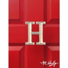 Michael Healy Designs Brushed Nickel Letter H Monogram Door Knocker by Michael Healy Designs. $49.00. - Brushed Nickel Letter H Monogram Door Knocker