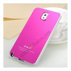 Ultra-thin Deluxe All Metal Aluminum Case Cover For Samsung Galaxy Note 3 N9000 - Silver/Rose red US$25.99