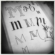 M, kleine letters, handlettering, notesandquotes.nl