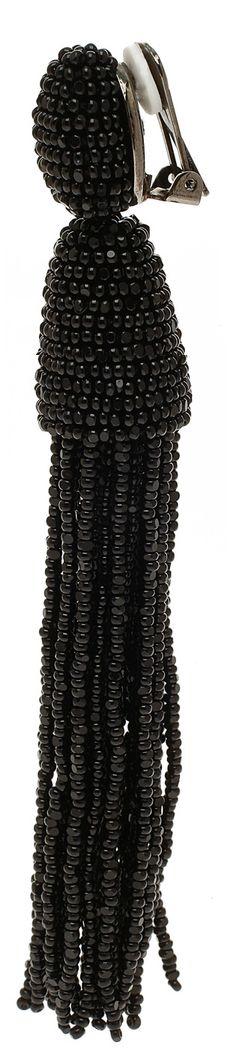 Серьги кисточки из бисера Оскар де ла рента. | biser.info - всё о бисере и бисерном творчестве