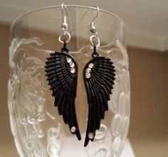 Betsy's Jewelry Cool Black Wing Earrings by BetsysJewelry, $6.00