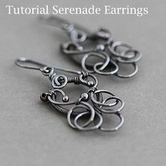 Serenade earrings Tutorial  Victorian style by ColettesBoutique, $12.00