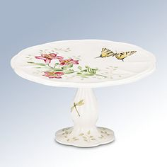 LENOX Table Accessories:   - Butterfly Meadow® Pedestal Cake Plate  @Lenox  #Lenoxwhatsnewwithu