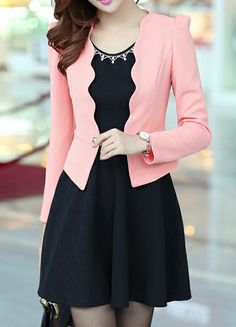 Solid Color Scoop Neck Diamante Bow Tie Embellished Long Sleeve Casual Twinset For Women (PINK,XL) | Sammydress.com Sammy Dress, Jackets Online, Scoop Neck, Tunic Tops, Bows, Long Sleeve, Casual, Pink, Korean
