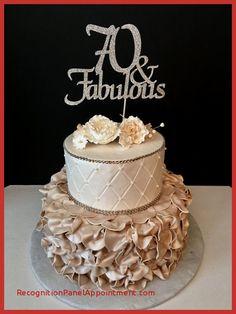 70 Year Old Female Birthday Cake