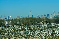 Calvary Cemetery, Queens and Manhattan Skyline , New York City, NY Manhattan Skyline, Paris Skyline, New York Skyline, Queens Nyc, Queens New York, Jackson Heights, Jersey Girl, Staten Island, Airports