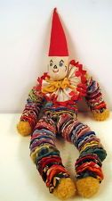 """VTG 19"""" Cloth Clown YoYo~  I never saw one of these till I was 18, but if I had, I'd have whined for it, baby toy or not. I was a fiend for color."""