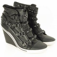 23a29da86bb3 Ash Toxic -Leather Wedge Sneakers