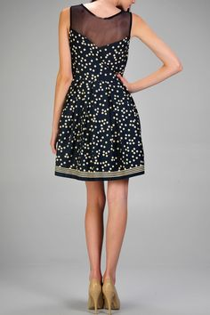 Polka Dot Party Dress. #fashion #watchwigs www,youtube,com/wigs