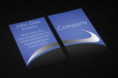 41 best blue business cards templates images on pinterest business elegant modern blue business card design on vertical layout suitable for any kind of business cheaphphosting Image collections