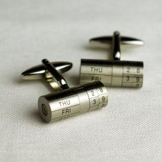 Adjustable Calendar Cylinder Cufflinks
