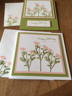 Stampin up 'wild about flowers'