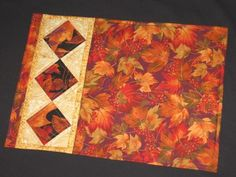 7 Fall Quilting Patterns for Table Runners, Place Mats and Coasters