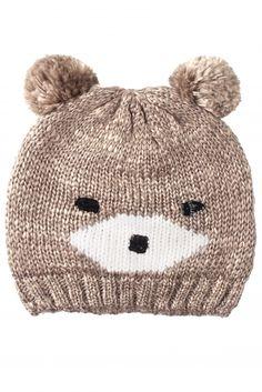 Ladies SockShop Tallulah Marl Knit Bear Beanie Hat with Pompoms a7150650d09a