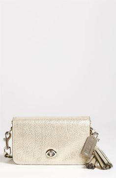 Happy Birthday to me! :) COACH 'Legacy - Penny' Metallic Leather Crossbody Bag available at #Nordstrom