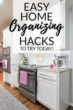 Easy Life Hacks for Home Organization - I'll show you the best quick fixes we've implemented around our home, plus give you a simple formula for creating your own easy organizing fixes.