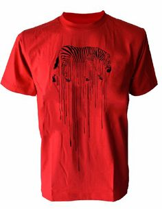 SODAtees melting Zebra Graphic Design Safari Men's T-Shirt graphic tee - Red - Large SODAtees http://www.amazon.com/dp/B00KTS18QI/ref=cm_sw_r_pi_dp_xLNKtb0MNRYWG6EG