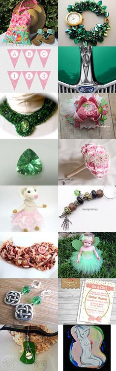 Pink and Green (13) by Dara on Etsy--Pinned with TreasuryPin.com