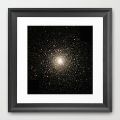 Hubble Images a Swarm of Ancient Stars Framed Art Print by Planet Prints - $34.00