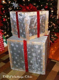 Outdoor Lighted Christmas Presents :: Hometalk