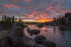 Spokane River Sunset by CRAIG GOODWIN Photography